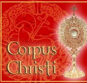 Mass at 7.30 this evening will be followed by Holy Hour to Mark the Feast of Corpus Christi.