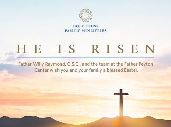 "Easter, the Risen Lord, says, ""YES,"" to life, ""YES"" to life without the virus; ""YES,"" to life without dominating others; ""YES"" to the family; ""YES,"" to life with Christ! ""YES"" to the Risen Lord, now and forever! Amen! Alleluia!     Father Willy Easter message blog, Saturday 4/3/21, will go live at 5:30 pm Eastern time"